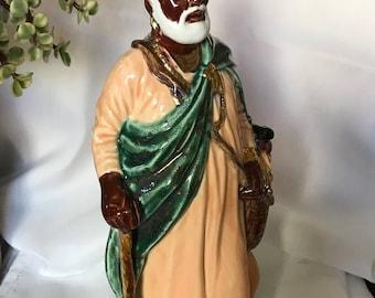 African Santa-Black Santa-Ceramic Glazed
