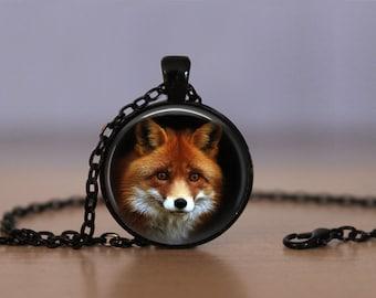 Fox Pendant Necklace  Omnivorous Mammal Red Fox Jewelry