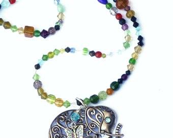 Long Beaded Glass Beads Elephant Necklace Boho Jewelry FREE SHIPPING