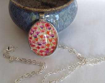 Bezel Set Fabric Necklace | Liberty of London Fabric | Quilters Necklace | Quilt Fabric Necklace | Gift for Quilter | Quilters Jewellery