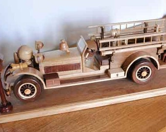Handcrafted Model of Vintage Ahrens Fox Fire Truck 1927