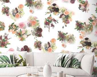 Rose Juliette by Frog, Botanical Wallpaper, 10 meter roll, Feature wall, British flowers, Floral wallpaper, Flowers, Photographic