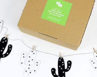 DIY kit: Create a Garland of embroidered cacti