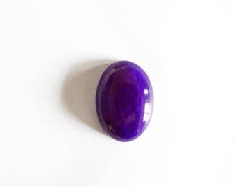 25x18mm purple dragon vein agate oval cabochon