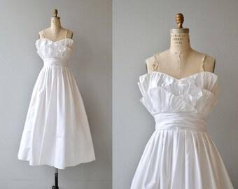 Victor Costa wedding dress | vintage tea length dress | white strapless wedding dress
