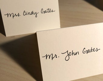 Hand written place cards