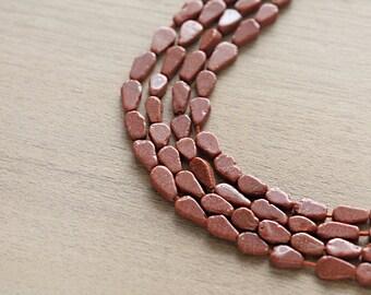 50 pcs of Goldsand Mini Teardrop Beads - 6mm