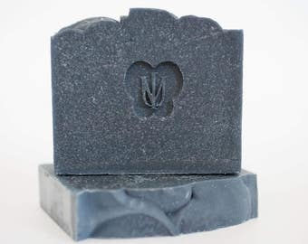 BLACK VELVET - Cold Process Organic Soap - Activated Bamboo Charcoal
