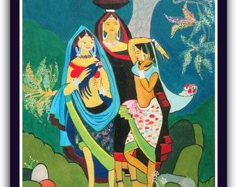 Watercolor Art Of ladies
