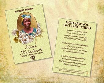 Beautiful African Prayer Cards: Adinkra Design