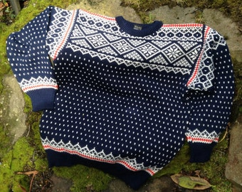 Dale of Norway, Norwegian wool sweater made in Norway-size XL