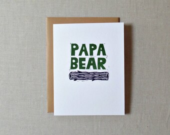 Papa bear Birthday card for dad, Dad card, Love you dad card, Dad birthday card, From baby, Grandpa card, Poppa bear, I love you daddy