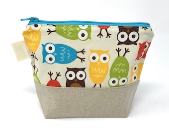 Reusable Snack Bag: Owls