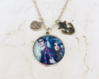 Stydia necklace, teen wolf jewelry, stiles stilinski necklace, lidya martin necklace