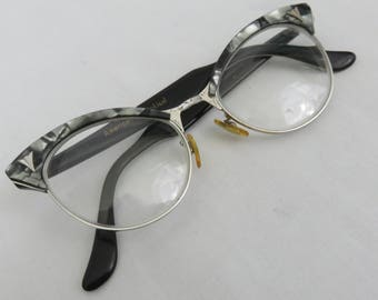 Vintage Mother of Pearl Browline Glasses or Sunglasses by American Optical - 1950s Eyeglasses
