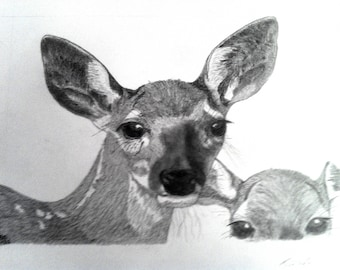 Pen & ink drawing - Twins