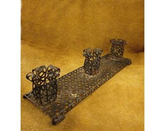 Black Metal Candleholder or Bud Vase (Test Tube) Holder – Vintage Home Décor