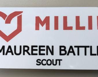 MILLIE name tag