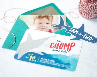 Printable Shark Birthday Invitations - Shark Party