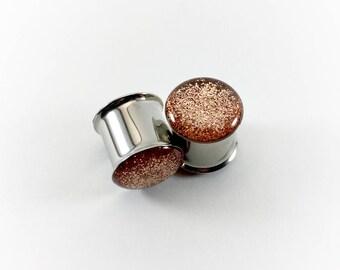 Rose Gold Metallic Glitter Plugs