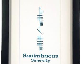 Serenity (Suaimhneas) Ogham 5x7 Print