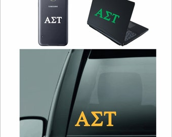 alpha sigma tau sticker - alpha sigma tau Decal - alpha sigma tau -  Greek Letters - Sorority Decal - Laptop Sticker - Car Decal