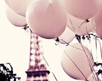 Pink Balloons in PARIS Photo, Pink Balloons in Paris, Balloons and Eiffel Tower Photo, Paris Photography, Paris Pink, Love, Eiffel Tower
