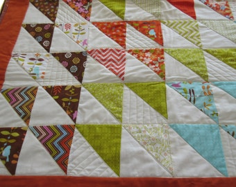Baby Girl Crib Quilt made with Fig Tree fabrics for Moda