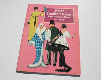Vintage Poiret Fashion Design Paper Dolls, Tom Tierney, Uncut Cutouts Paper Doll Booklet