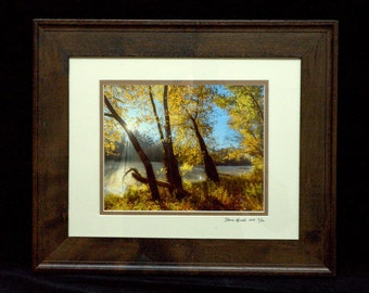 Hiking In The Golden Glow 8x10 Print In An 11x14 Wood Frame By Thomas Minutolo 11-6-2016