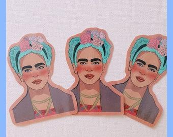 Frida Kahlo Artist Collectible Fashion Sticker Vinyl Art Hoe Laptop Sticker