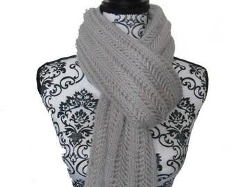 Cream color long scarf