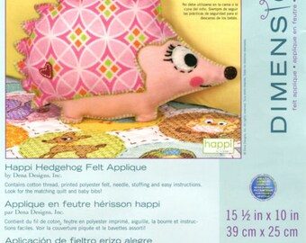 Dimensions Hedgehog, Happi Hedgehog Felt Applique Kit, Dimensions Baby Hugs