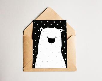 Greeting card/ postcard/ Polarbear