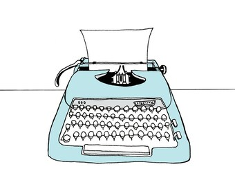 Typewriter Illustration print - The Sterling