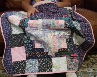 Wheelchair lap quilt, hand made lap quilt, lap quilt for women