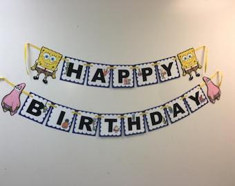Sponge Bob birthday banner