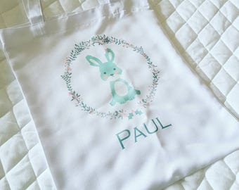 Tote bag of Easter with the name of your choice