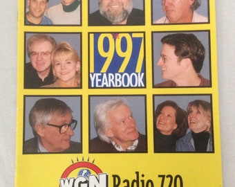 WGN Radio 720 Chicago Vintage 1997 Yearbook Souvenir Program