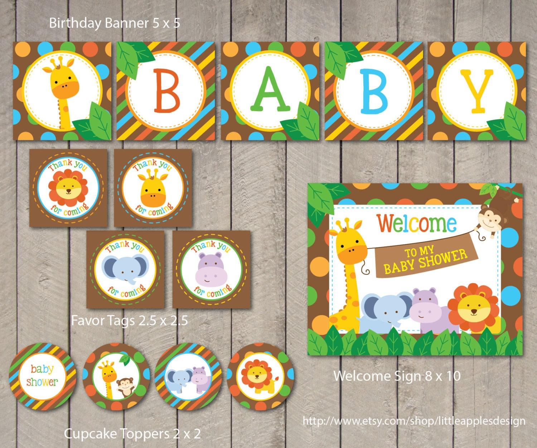 Safari Baby Shower Package / Safari Baby Shower Pack / Safari