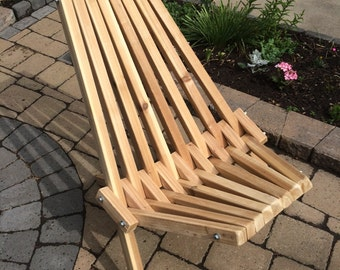 Wooden Folding Deck/Patio Chairs - unfinished