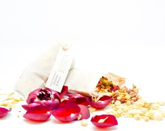 10 Jasmine And Roses Sachet with Rose Petals and Asian Jasmines