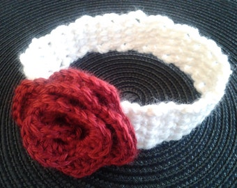 Baby Crocheted Headband with Rosette