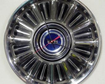 1967 Ford Fairlane and Galaxie Hubcap Wall Clock - Retro Vintage Hub Cap Decor