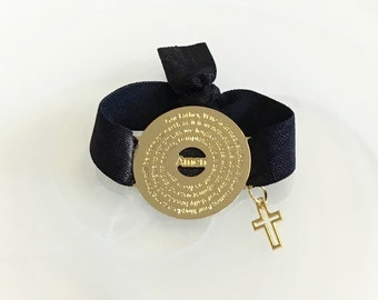 Graduation Gift - Our Father Prayer bracelet - Catholic Gift