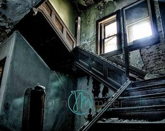 Fine art photography, Urban Decay, Abandoned House, Wall Decor, Home Decor, Abandoned, Fine art print,