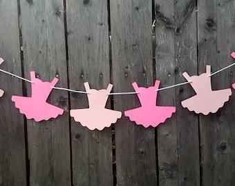 Tutu Banner, Tutu Garland, Ballet Birthday, Ballet Baby Shower, Ballet Birthday, Ballerina Banner, Ballerina Garland