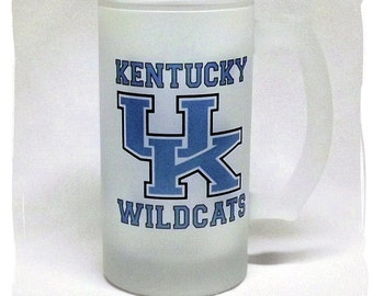 University of Kentucky Wildcats Frosted 16 ounce Beer Mug