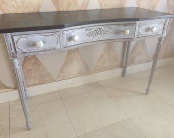 Side board,sofa table,vanity,desk,painted vanity,furniture,entryway table,refurbish furniture,home decor,distress table,makeup table