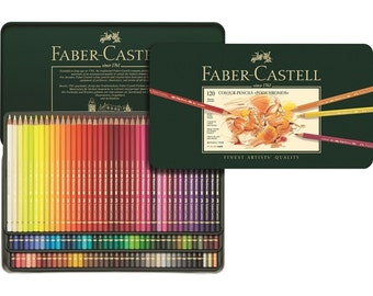 120 Faber Castell Polychromos Colored Pencils | Colored Pencil Set, Coloring Pencils Tin, Imported from Germany, Color Pencils, Artist Gifts